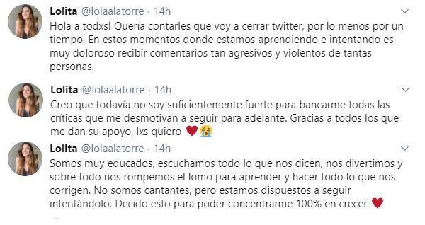 """Lola Latorre tomó una drástica decisión sobre su participación en el """"Cantando 2020"""""""