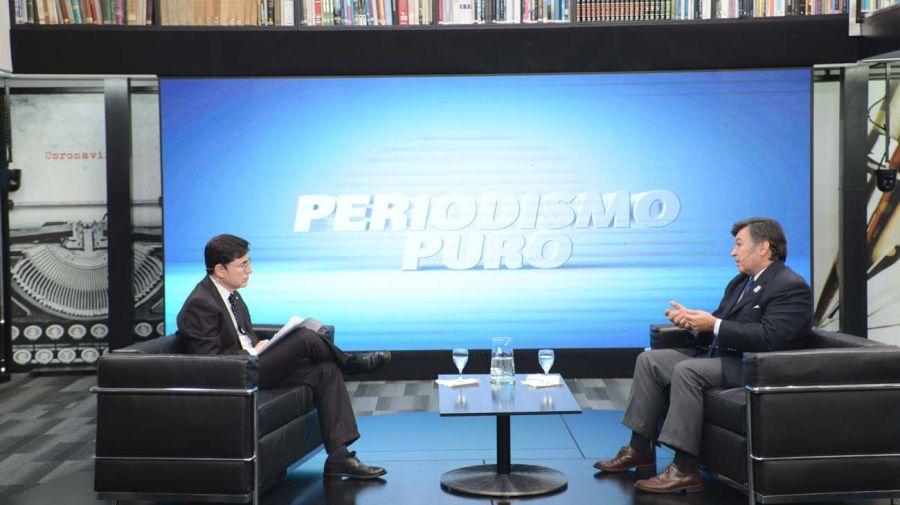 Daniel Pelegrina, en la entrevista con Jorge Fontevecchia.