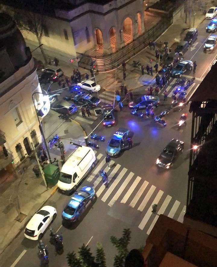 Visión superior del tiroteo en Caballito.