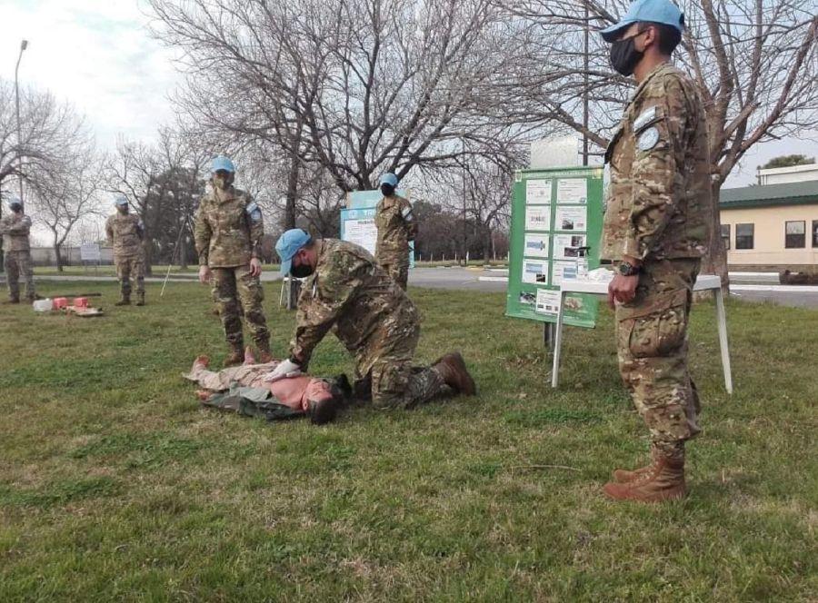 Cascos Azules de la Fuerza de Tarea Argentina 56 en Chipre - UNFICYP