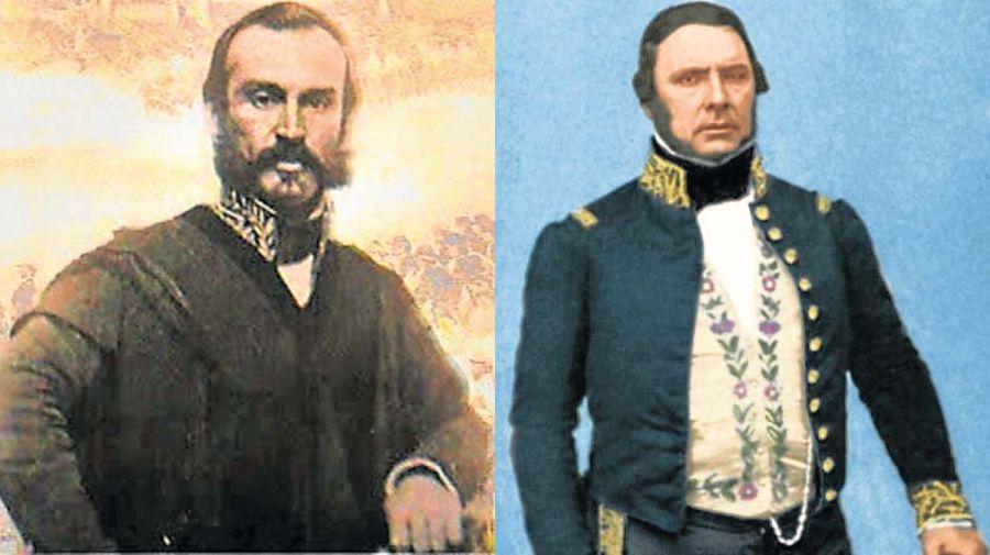 Enemistados. López Jordán mandó matar a Urquiza y ordenó el atentado contra Sarmiento, furioso por el acercamiento entre ellos.