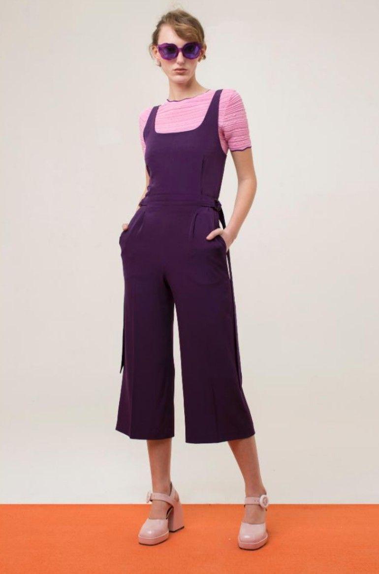 El violeta es el color de la próxima temporada y así lo demuestra Fabiola Yáñez