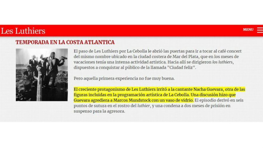 Nacha Guevara violenta con Les Luthiers