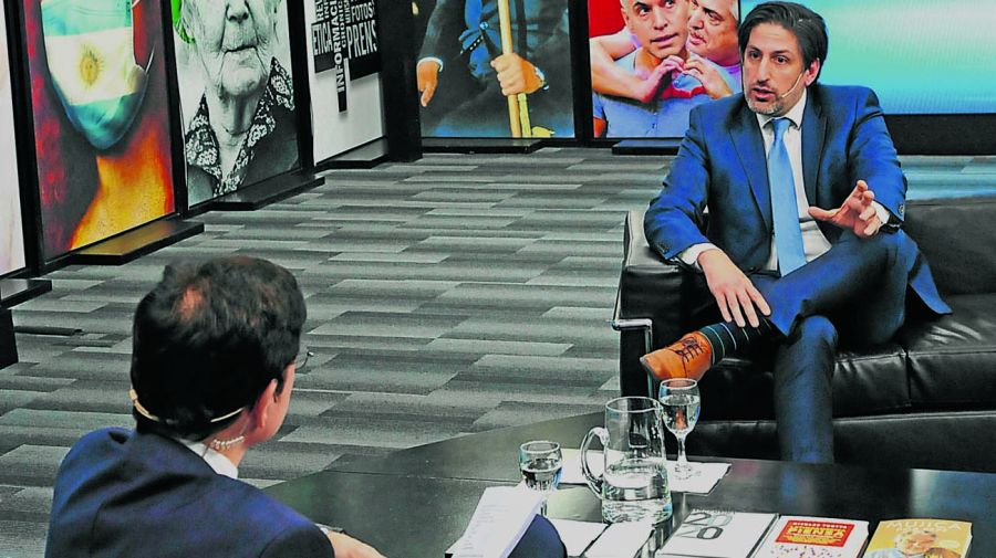 El ministro Nicolás Trotta, en la entrevista con Jorge Fontevecchia.
