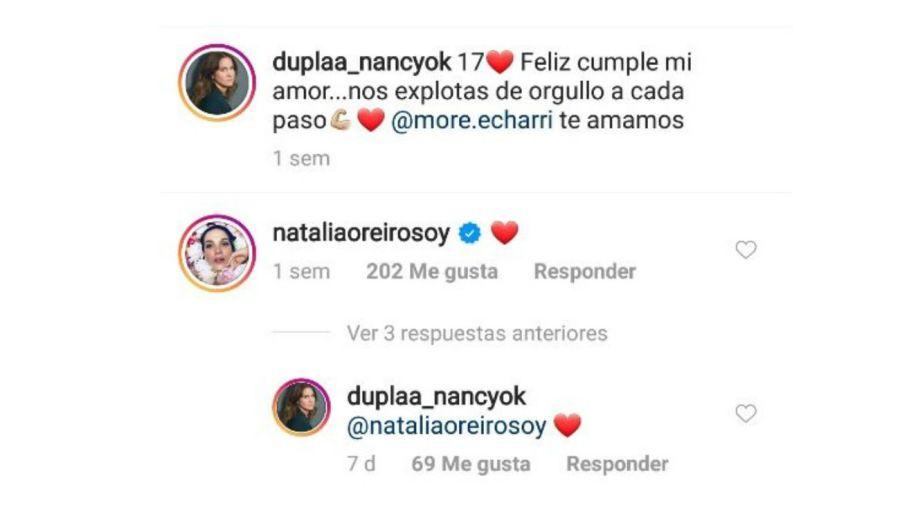 Cruce Natalia Oreiro y Nancy Duplaa
