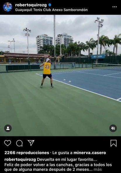 Minerva Casero muy cerca de un tenista internacional