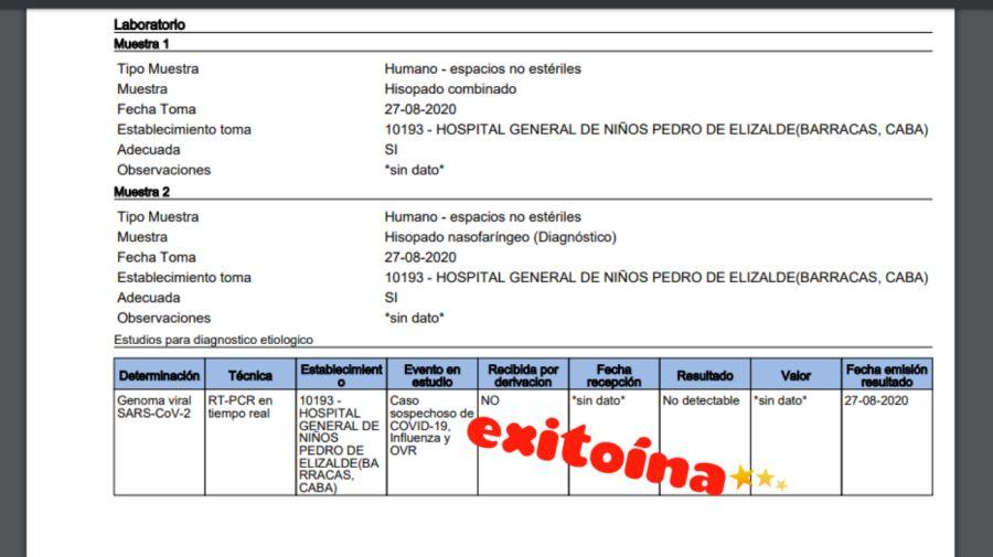 esmeralda mitre test coronavirus 0901