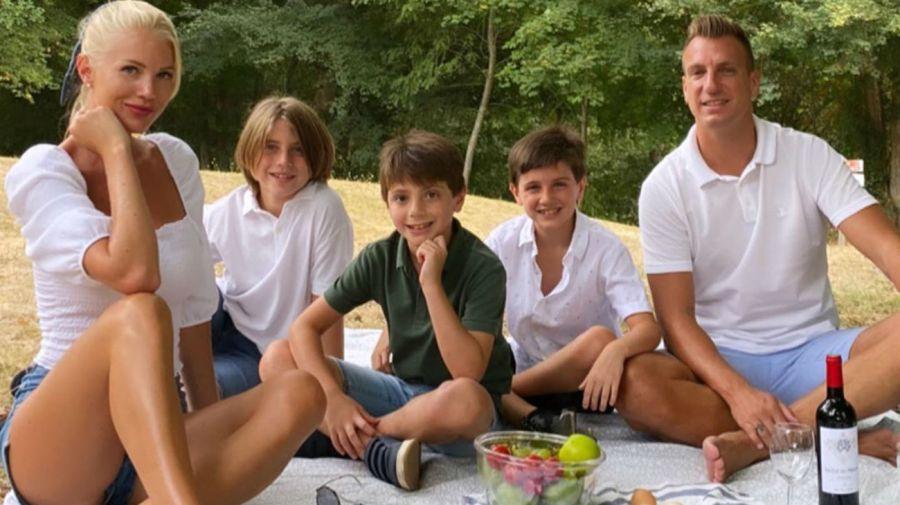 Daniela Christiansson, Maxi López y los hijos del futbolista