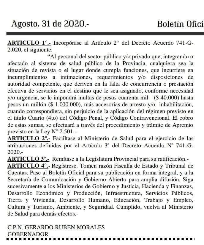 El decreto 144/2020 de Gerardo Morales