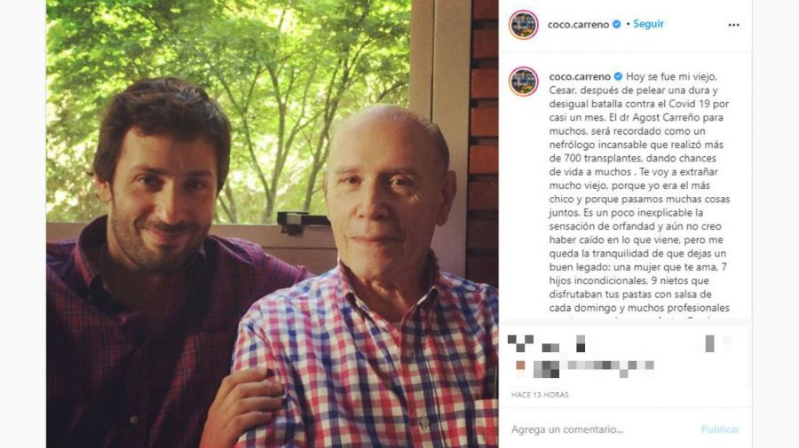 Coco Carreño y su papá