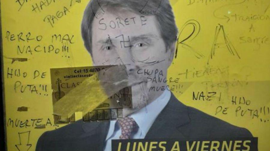 Pintada antisemita contra Eduardo Feinmann