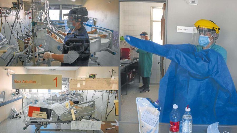 Los médicos de terapia intensiva están al límite de sus fuerzas por el coronavirus.