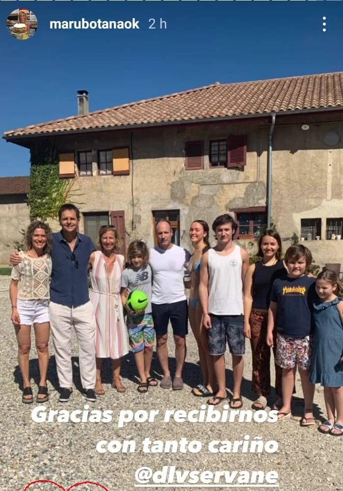 Maru Botana viajó a Europa para reencontrarse con su hijo