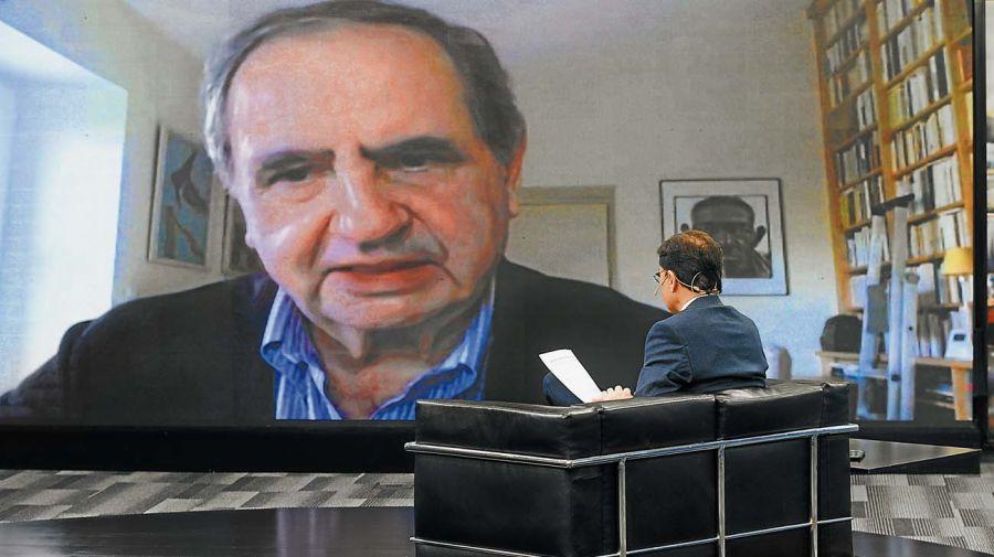 Pierre Rosanvallon, en la entrevista con Jorge Fontevecchia.