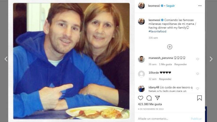 Messi y las milanesas de su mama