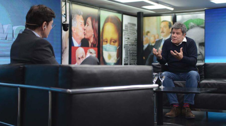 El doctor Facundo Manes, en la entrevista con Jorge Fontevecchia.