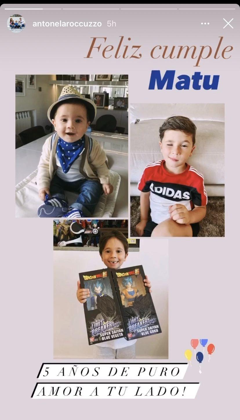 Mateo Messi cumple cinco años: los saludos por su especial día