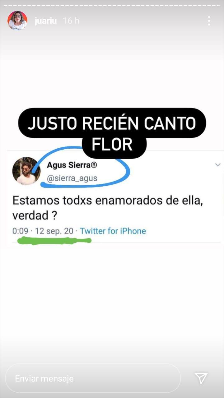 El enigmático mensaje de Cachete Sierra, ¿para Flor Torrente?