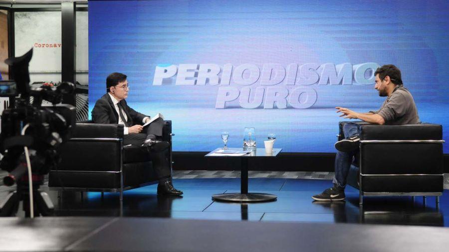 Juan Grabois, en la entrevista con Jorge Fontevecchia.