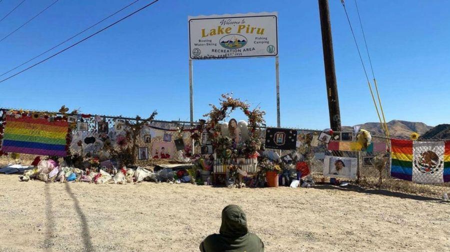 Naya Rivera homenaje en el lago Piru, California