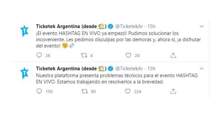 Escándalo Hashtag en vivo