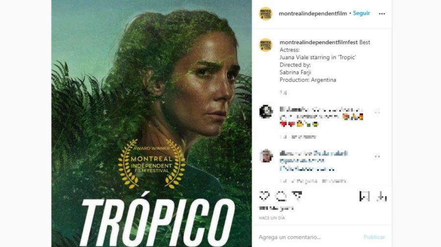 Juana Viale mejor actriz en el Montreal Independent Film Festival