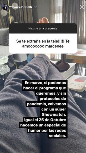 Marcelo Tinelli anunció su vuelta a la televisión