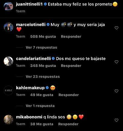 Los comentarios de Marcelo Tinelli y Mika Bonomi a Juanita Tinelli
