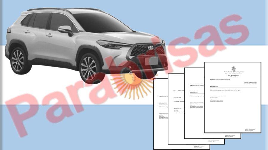 Toyota Corolla Cross registrado en la Argentina