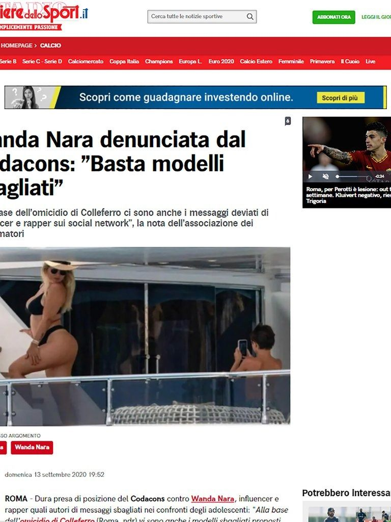 Wanda Nara denunciada por