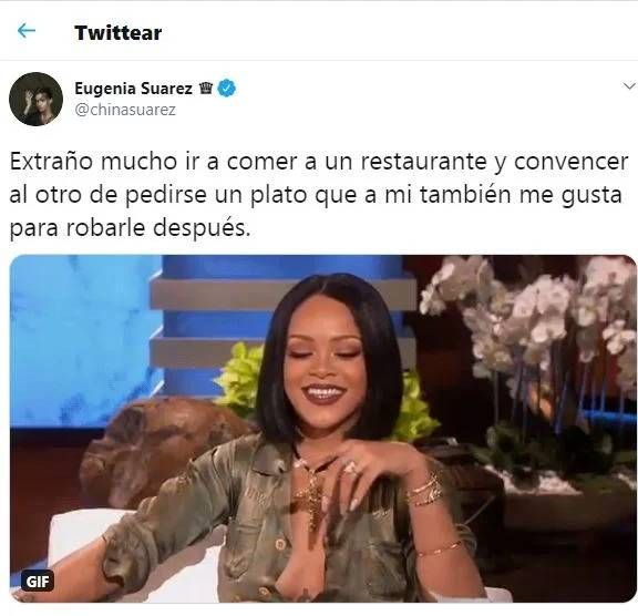 El mensaje de la China Suárez, tras la aparición de las fotos de Benjamín Vicuña en Chile