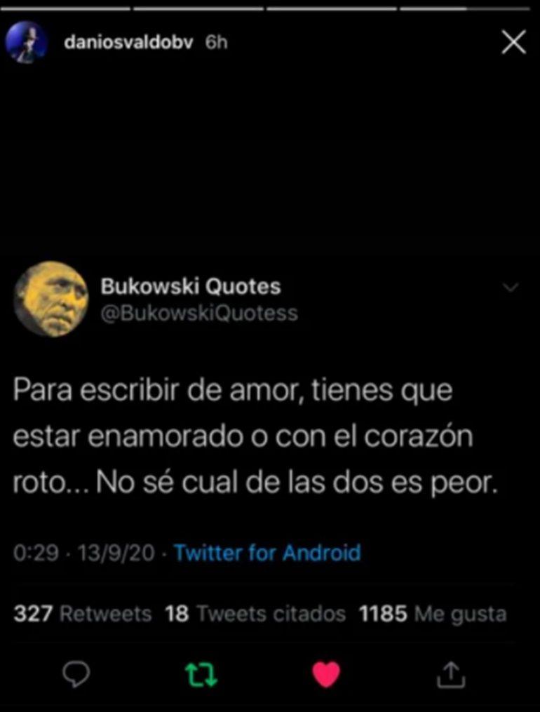 El sentido mensaje de Daniel Osvaldo tras ver las fotos de Jimena Barón y Caiazza