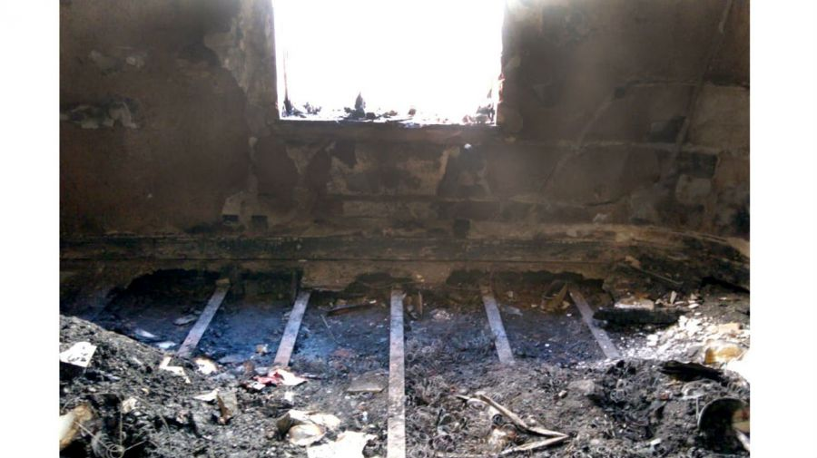 El incendio en la casa de Elsa Serrano