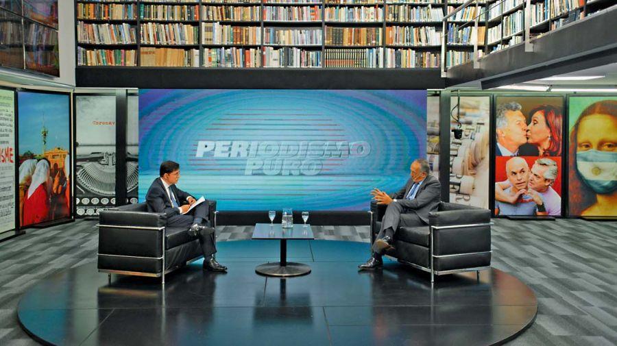 Miguel Acevedo, en la entrevista con Jorge Fontevecchia.