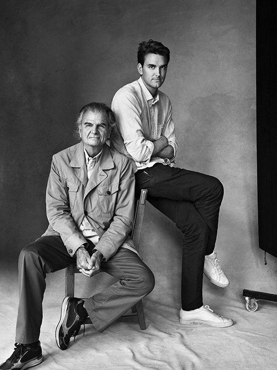 Victor Demarchelier junto a su padre Patrick Demarchelier