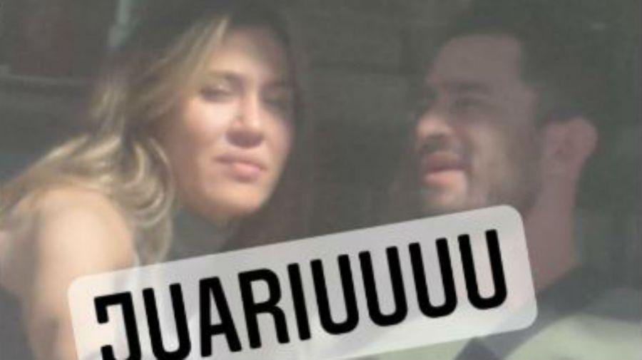Jimena Baron y El Tucu López, juntos