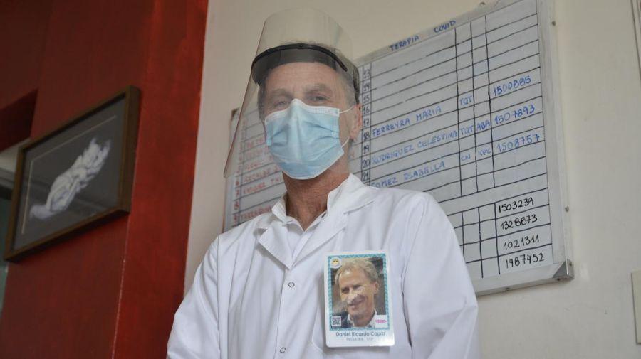Daniel Ricardo Capra, pediatra intensivista / 36 años en el Posadas.
