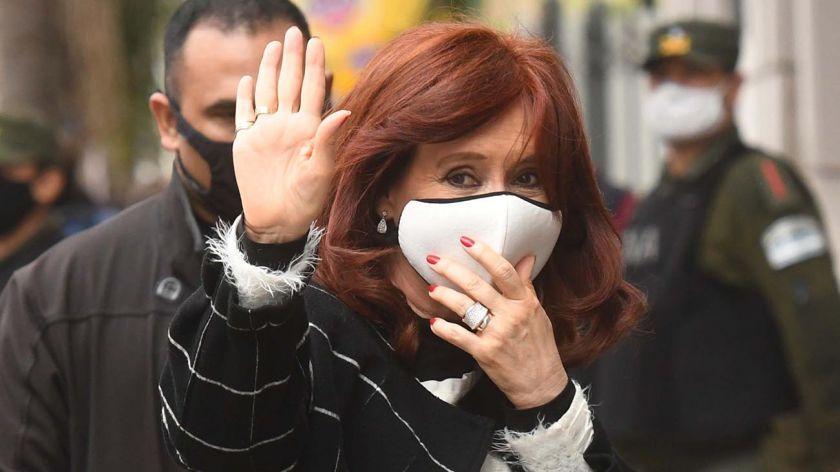 Cristina Kirchner barbijo