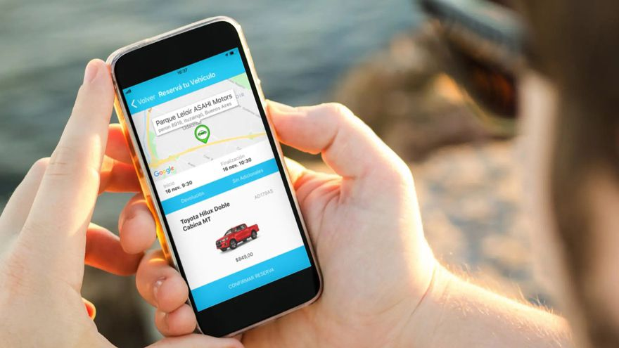 Plataformas de alquiler de autos particulares