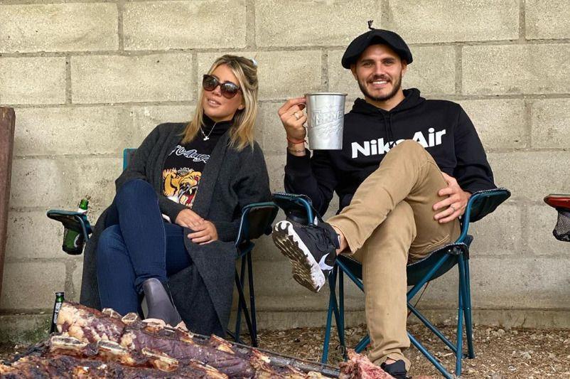 Wanda y Mauro Icardi disfrutaron de un día de campo a