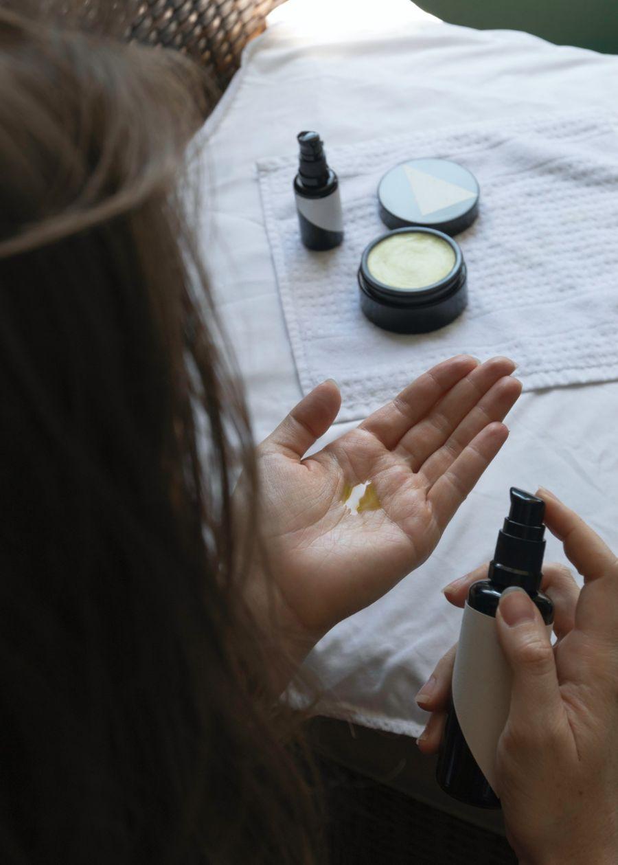 Una rutina de cosmética natural