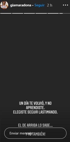 La furia de Gianinna Maradona tras la aparición de Diego con Verónica Ojeda