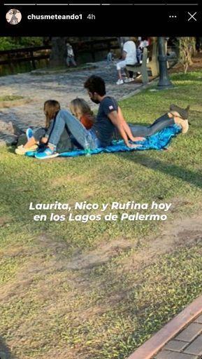 La tarde de picnic de Nicolás y Rufina Cabré con Laurita Fernández