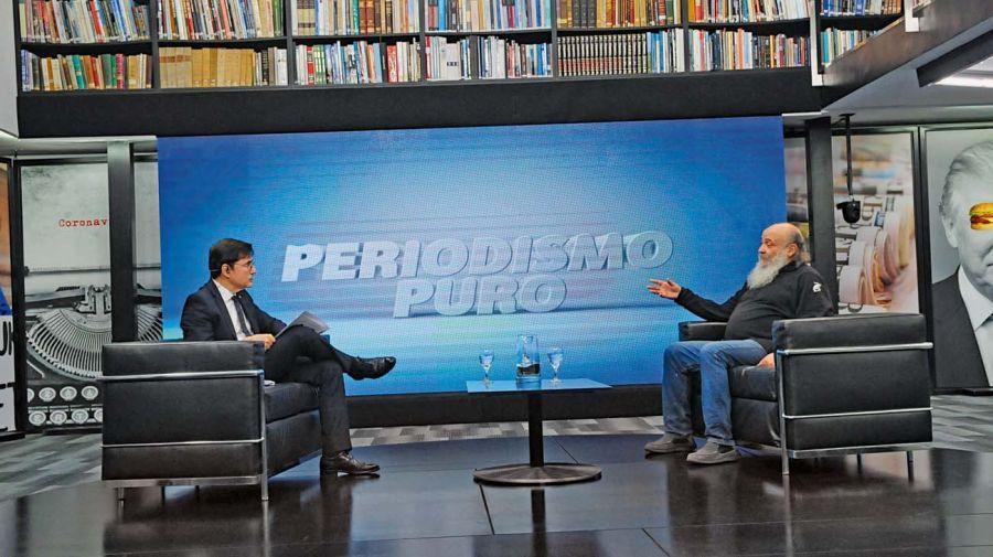 Emilio Pérsico, en el reportaje con Jorge Fontevecchia.