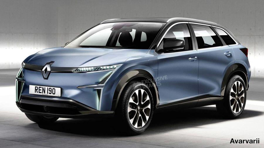 Proyección del futuro SUV de Renault por Avarvaii.