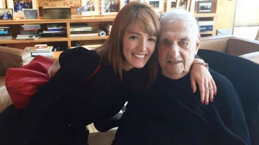 Pierina con su gran mentor, Frank Ghery
