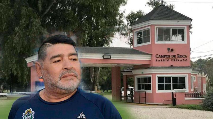Ex empleado de Maradona buscado por robo en el lugar donde vive Diego