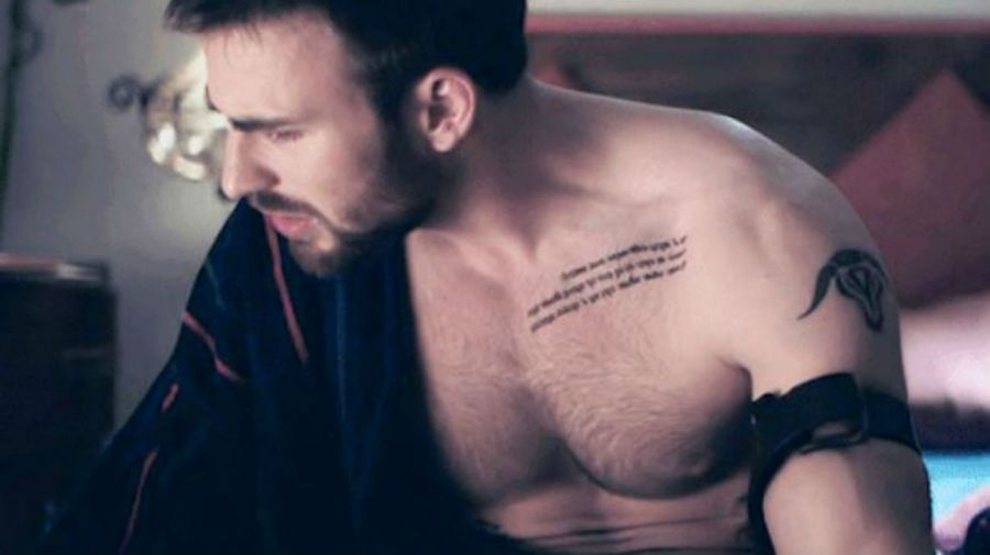 Chris Evans tatuajes: cita de Eckhart Tolle