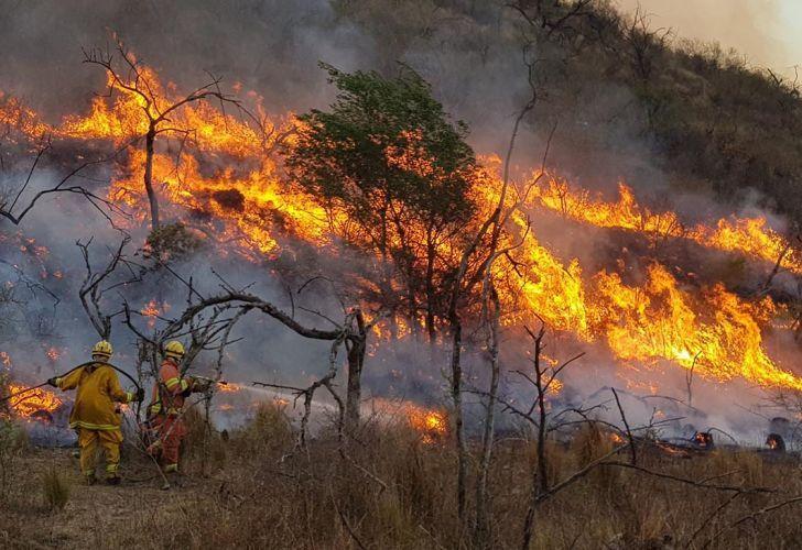 Incendios descontrolados en Córdoba