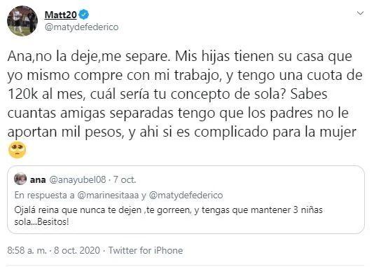 Matías Defederico reveló cuanto dinero y que beneficios pasa a Cinthia Fernández por sus tres hijas